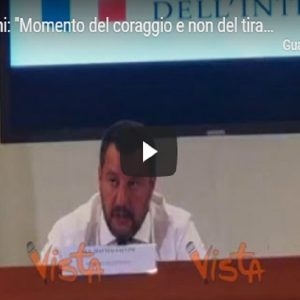 Matteo Salvini in conferenza stampa
