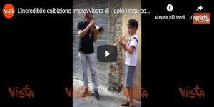 L'incredibile esibizione improvvisata di Paolo Fresu con un bambino VIDEO