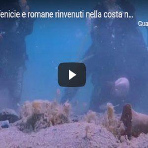 Resti di anfore fenicie e romane rinvenuti nella costa nord di Brindisi VIDEO