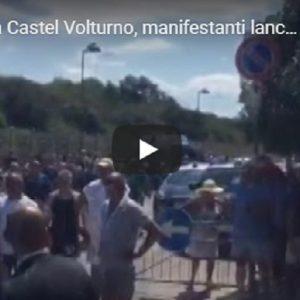 Salvini contestato a Castel Volturno, agenzia Vista