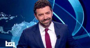 Alberto Matano saluta il Tg1