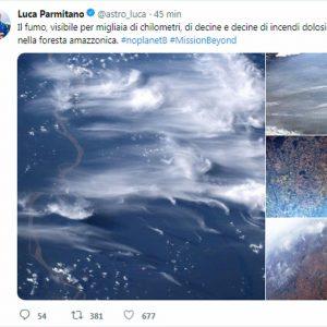 Amazzonia in fiamme, Luca Parmitano pubblica le foto dalla Stazione spaziale
