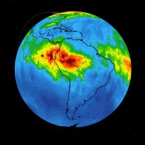 Amazzonia, la mappa della Nasa sul monossido di carbonio liberato dai roghi