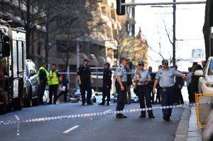 La polizia sul luogo dell'attacco, Ansa