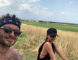 David e Victoria Beckham nelle campagne pugliesi