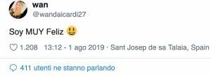 Calciomercato Inter Icardi Wanda Nara twitta