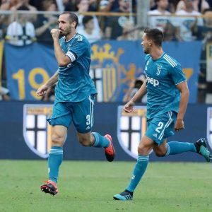 Chiellini gol Parma-Juventus 0-1