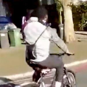 Il ciclista ripreso a Londra