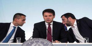 Luigi Di Maio, Antonio Conte e Matteo Salvini