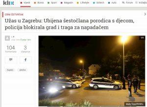 Croazia, famiglia massacrata dal papà: 6 morti. E' caccia al killer a Zagabria
