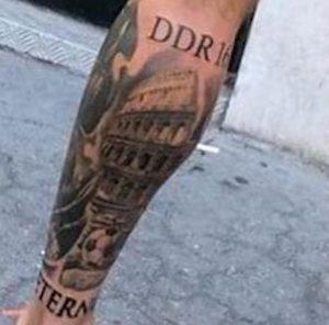 De Rossi tatuaggio Moscardelli foto Instagram