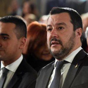 Luigi Di Maio e Matteo Salvini (foto Ansa)