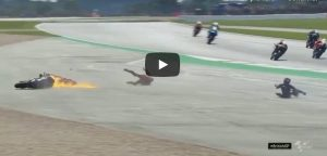 Dovizioso incidente Silverstone video YouTube condizioni salute