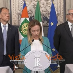 Giorgia Meloni, video Vista