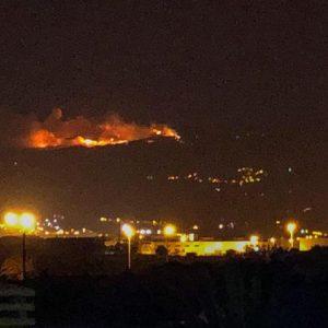 Gran Canaria, una foto Ansa dell'incendio