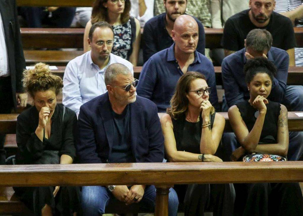Giulio Golia ai funerali
