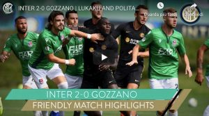 Inter Gozzano 2-0 highlights video gol YouTube Lukaku