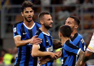Inter lecce 2-0 gol brozovic