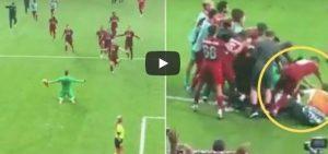 Liverpool Adrian infortunio tifoso video YouTube