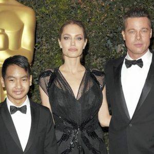 Angelina Jolie, Maddox e Brad Pitt