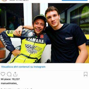 Manuel Bortuzzo Valentino Rossi foto Instagram