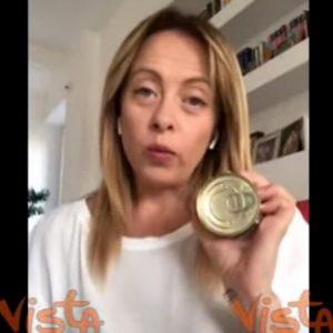 Giorgia Meloni e la scatoletta di tonno
