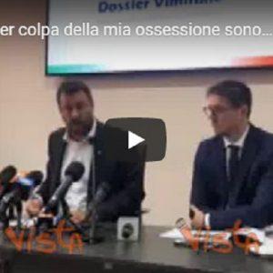 """Migranti, Salvini: """"Per colpa della mia ossessione sono diminuiti gli sbarchi"""" VIDEO VISTA"""