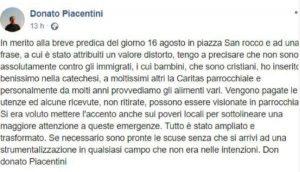 Il post di don Donato Piacentini