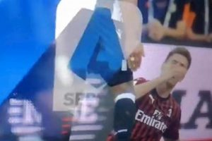 Piatek Udinese Milan sceneggiata simulazione social lo attaccano