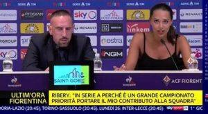 Ribery, tutti gli occhi sono per... la traduttrice