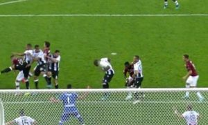 Rigore Udinese Milan Samir var mano involontaria