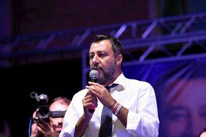 Il vicepremier Matteo Salvini a Sabaudia