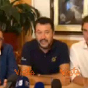 """Salvini: """"Da M5s e Pd governo della truffa"""" VIDEO"""