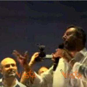 salvini al comizio di Pescara