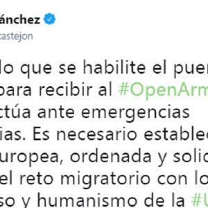 Il tweet del premier spagnolo
