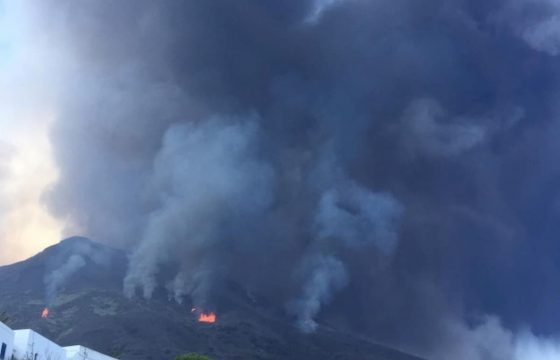 Il fumo sopra Stromboli