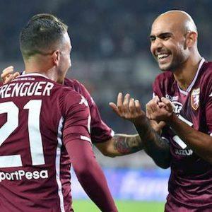 Torino wolverhampton risultato gol Belotti zaza Berenguer Izzo Nkoulou