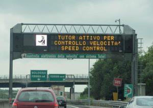 Tutor in autostrada
