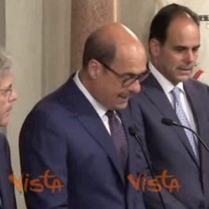 Pd, Zingaretti al Quirinale per le Consultazioni: il discorso integrale VIDEO