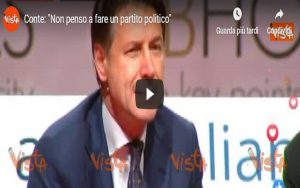 Giuseppe Conte, video Vista