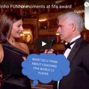 Ilaria d'Amico Mourinho video YouTube gelo durante Fifa The Best 2019