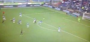 Alexis Sanchez gol Sampdoria Inter var fondoschiena che partita