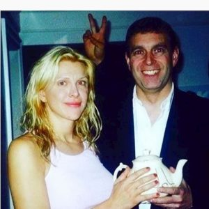 Il principe Andrea e Courtney Love