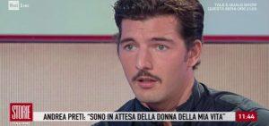 """Storie Italiane, Andrea Preti: """"Dopo la fine della storia con Claudia Gerini sono diventato casto"""""""
