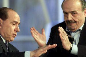 Silvio Berlusconi e Maurizio Costanzo