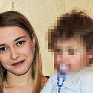 Yulia Sharko con la figlia di due anni