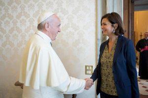 Laura Boldrini da papa Francesco