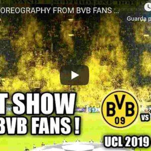 Borussia Dortmund Barcellona coreografia tifoso coriandoli spettacolare video YouTube