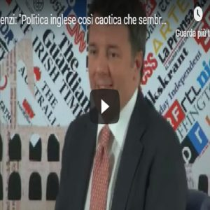 Matteo Renzi, video Vista