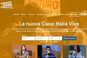 """Italia viva, la precisazione: il sito di Renzi è solo """"casaitaliaviva.it"""""""